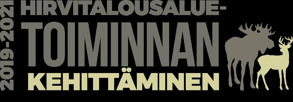 Hirvitalousale toiminnan kehittäminen -hankkeen logo.