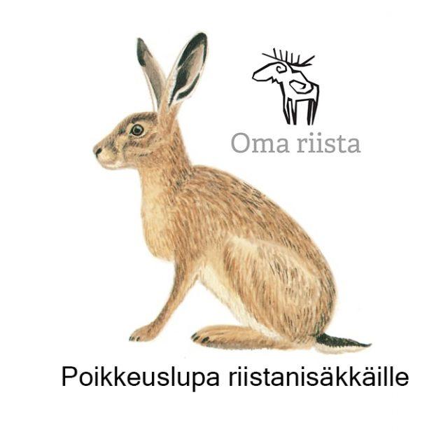 Rusakko ja Oma riista logo