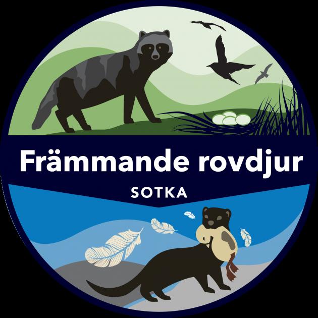 Logo av projektet SOTKA-främmande rovdjur