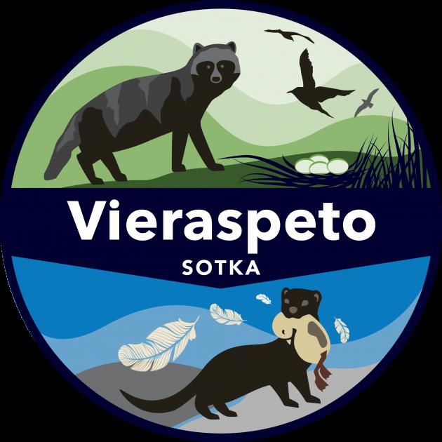 SOTKA-vieraspetohankkeen logo.